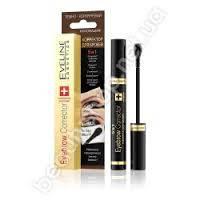 EVELINE cosmetics 9 мл EYEBROW CORRECTOR - КОРРЕКТОР ДЛЯ бровей 5в1 - темно-коричневый