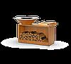 Гриль-мангал, барбекю HOLLA GRILL Rust Wide большая открытая тумба