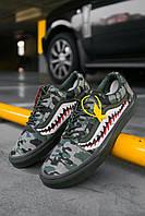 Кроссовки мужские весенние осенние качественные модные Vans Old Skool Green Camo