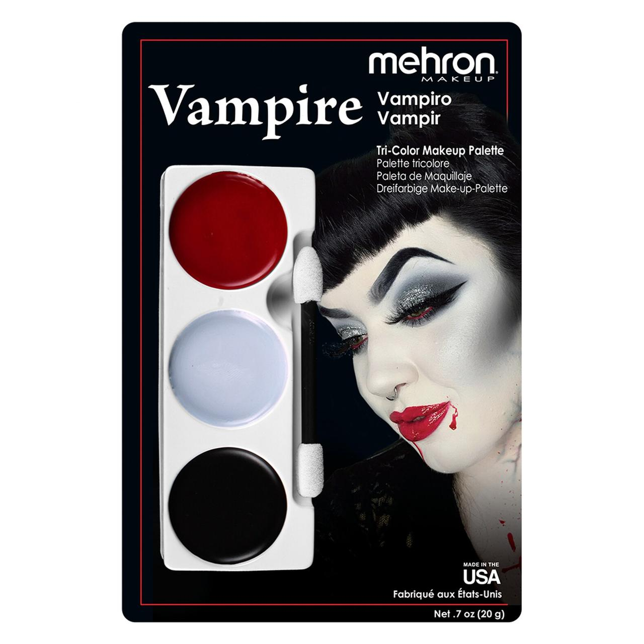 "MEHRON Набор кремового грима для образа ""Вампир"" Tri-Color Makeup Palette (Vampire), 6 oz., 17 г"