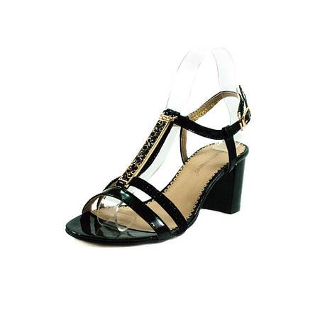 Босоніжки жіночі літні Foletti чорний 12056 (36), фото 2