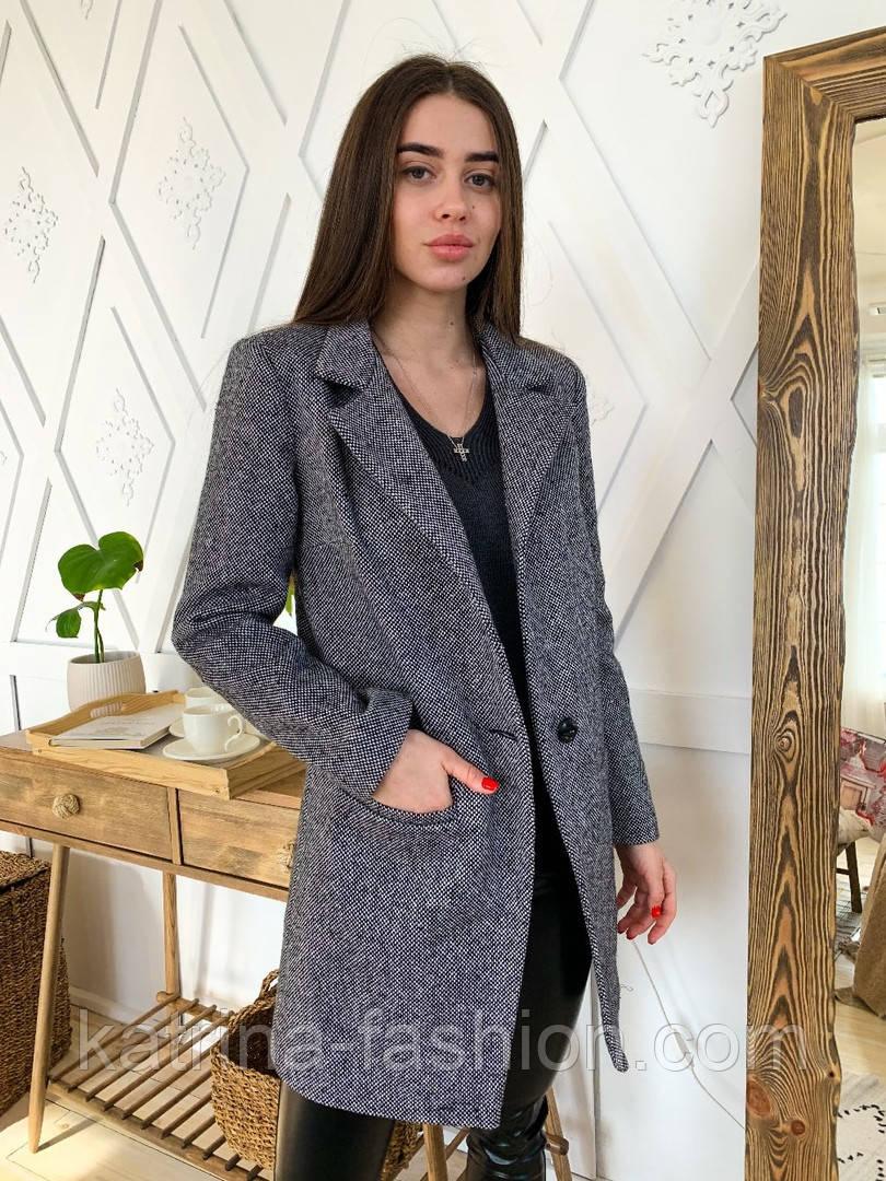 Женское пальто из твида (р-ры 42-46)