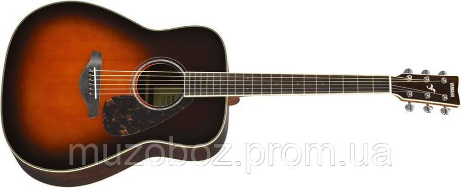 Акустическая гитара Yamaha FG830 (TBS), фото 2