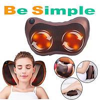 Роликовый массажер для спины и шеи Massage pillow GHM 8028  / Массажная подушка