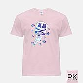 Детская футболка цветная с принтом  Marshmello Fortnite (Маршмелло Фортнайт) (25186-1329)