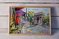 Поднос на подушке BST 4632 деревянный Париж Триумфальная арка 010029, КОД: 1404424