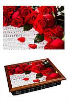 Поднос на подушке BST 040285 4436 коричневый Подарок для музыканка 040285, КОД: 1403997