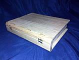 Шкатулка Книжка 30.5х25х6 см дерево заготовка для декора, фото 3