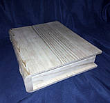 Шкатулка Книжка 30.5х25х6 см дерево заготовка для декора, фото 4
