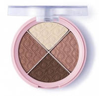 Тени Flormar Pretty Quartet Eyeshadow 01 Earthy Naturals 96462, КОД: 1089252
