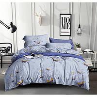Двуспальный комплект постельного белья евро 200*220 сатин (13641) TM КРИСПОЛ Украина