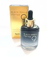 Антивозрастная увлажняющая сыворотка с осветляющим эффектом для лица FarmStay Black Snailand Peptide9, 35мл