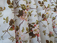 """Ткань для пошива скатертей рогожка Яблуневий Цвіт / """"Чарівна Ніч"""""""
