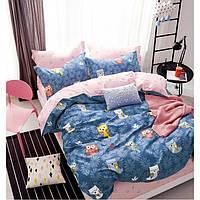 Двуспальный комплект постельного белья евро 200*220 сатин (13502) TM КРИСПОЛ Украина