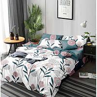 Двуспальный комплект постельного белья евро 200*220 сатин (13449) TM КРИСПОЛ Украина