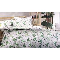 Двуспальный комплект постельного белья евро 200*220 сатин (12859) TM KRISPOL Украина