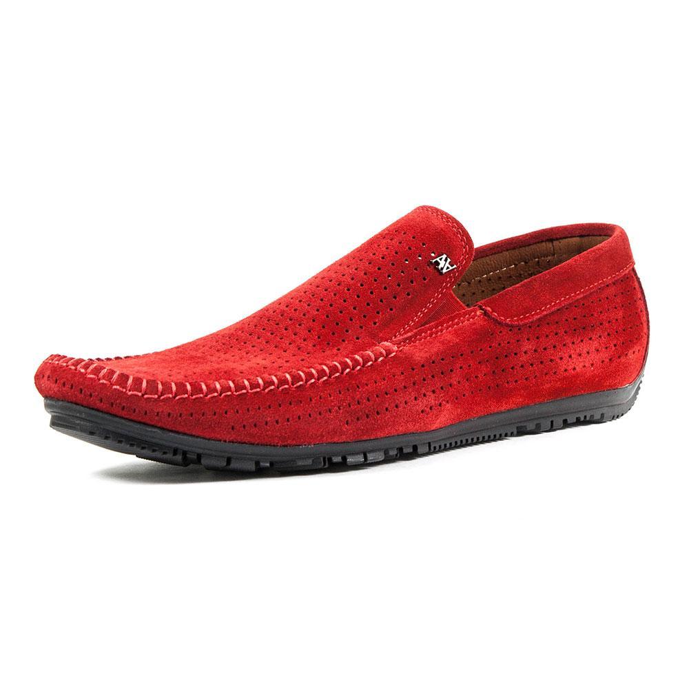 Мокасини чоловічі Alexandro червоний 09632 (40)