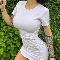 Летнее платье-футболка короткое