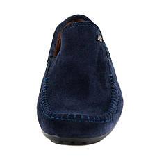 Мокасины подростковые Alexandro AO1703 синий нубук (34), фото 3
