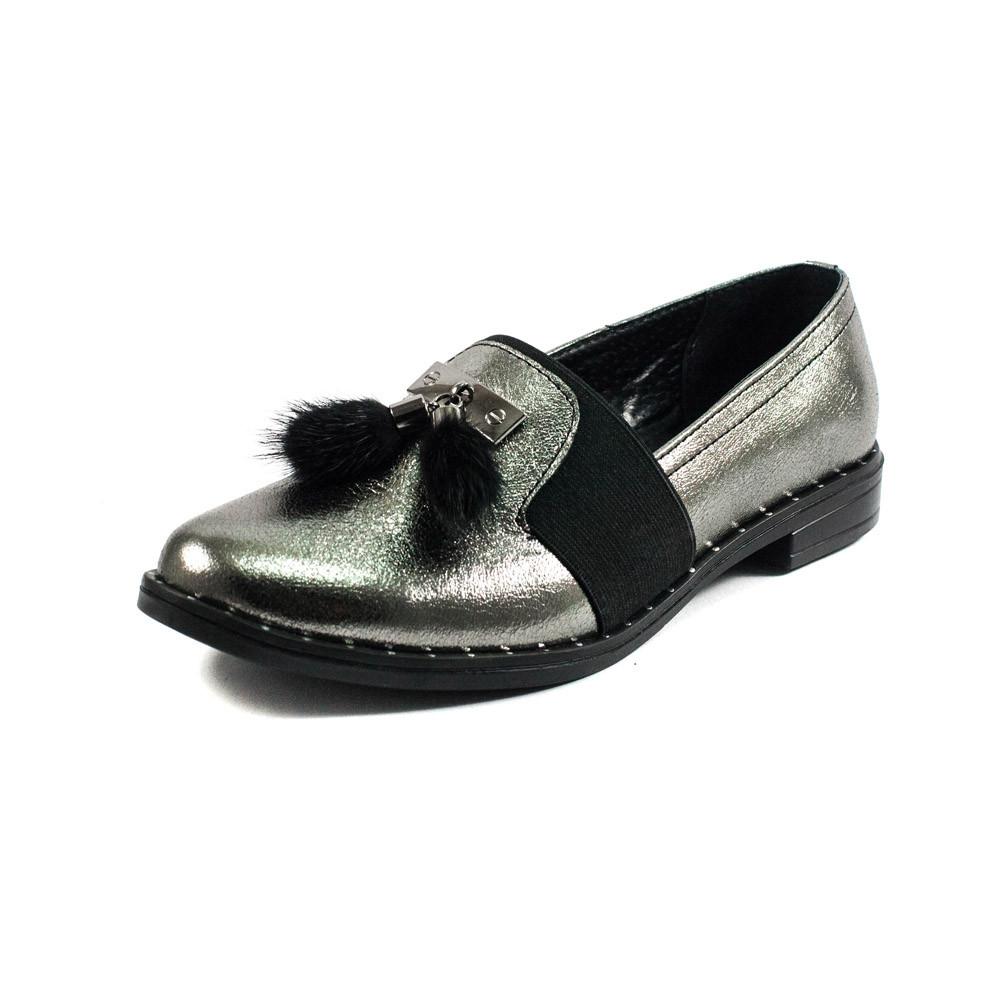 Туфли женские AmeLi AL105 серебрянная кожа (36)