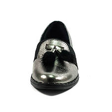 Туфли женские AmeLi AL105 серебрянная кожа (36), фото 3