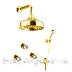 Душевая система Fiore Venere Sky 13OO0606 золото