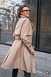 Плащ-тренч брендовий жіночий Domenica стильний двобортний (бежевий, р. S-XL), фото 6