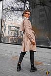 Плащ-тренч брендовий жіночий Domenica стильний двобортний (бежевий, р. S-XL), фото 7