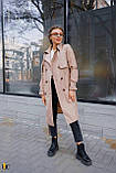 Плащ-тренч брендовий жіночий Domenica стильний двобортний (бежевий, р. S-XL), фото 5