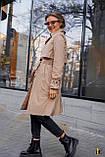 Плащ-тренч брендовий жіночий Domenica стильний двобортний (бежевий, р. S-XL), фото 8