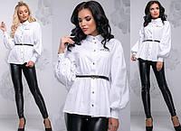 Женская блуза из ткани стрейч-коттон              ST-1031-а, фото 1