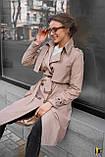 Плащ-тренч брендовий жіночий Domenica стильний двобортний (бежевий, р. S-XL), фото 9