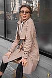 Плащ-тренч брендовий жіночий Domenica стильний двобортний (бежевий, р. S-XL), фото 10