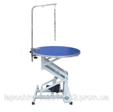 Круглый стол для груминга Chunzhou, электрический подъемник. 78х50/97 см