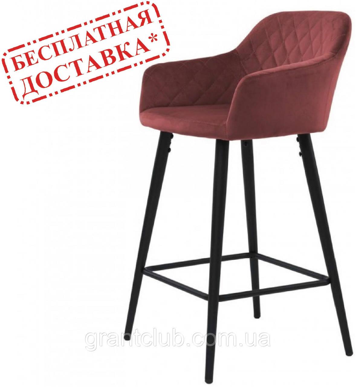 Полубарный стілець ANTIBA велюр гранат (безкоштовна доставка)