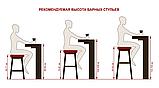 Полубарный стілець ANTIBA велюр гранат (безкоштовна доставка), фото 9