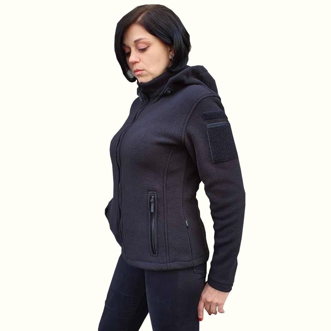 Толстовка женская флисовая BLACK