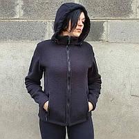 Толстовка женская флисовая BLACK, фото 2