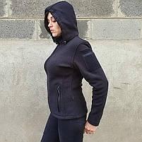 Толстовка женская флисовая BLACK, фото 3