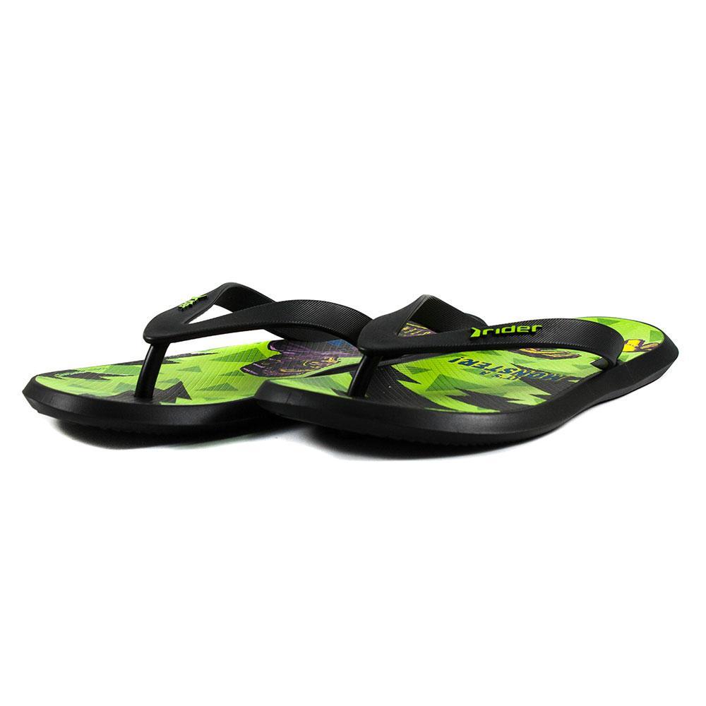 Шлепанцы мужские Rider 82664-21675 зелено-черные (44)