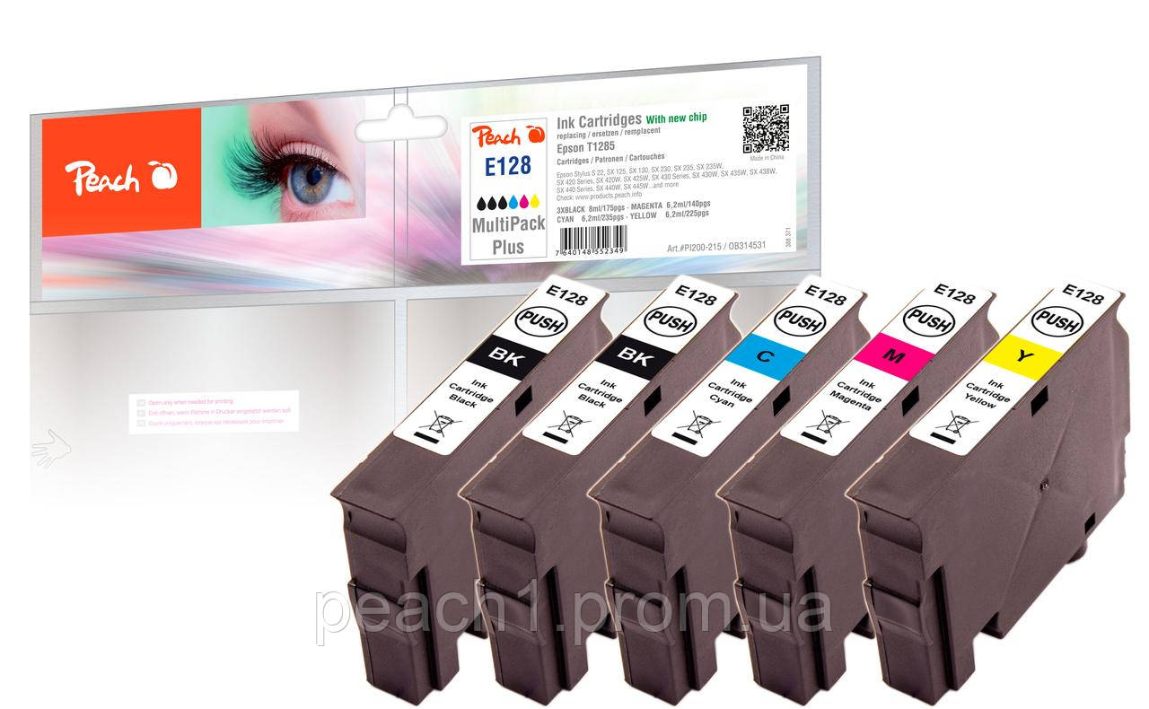 Набор картриджей (MultiPack Plus) (3xBK,C,M,Y) совместимые Epson T1285 MultiPack Plus c новым чипом