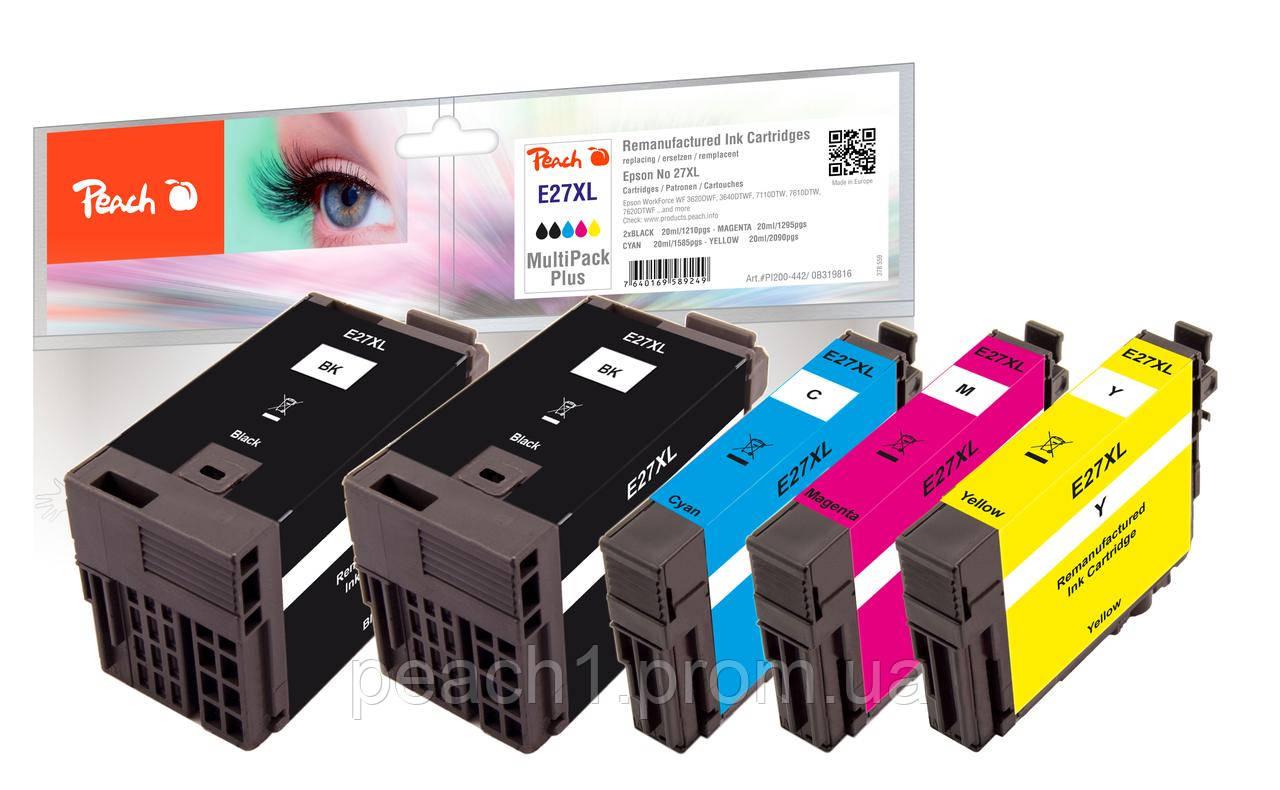 Набор картриджей (MultiPack Plus) (2xBK,C,M,Y) Epson No 27XL MultiPack Plus с оригинальным чипом.