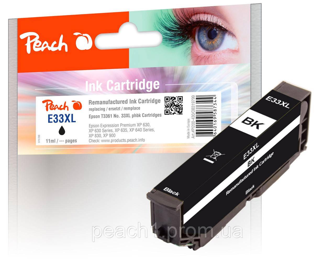 Картридж струйный, фото черный (Photo Black ), Epson T3361, No 33XL с оригинальным чипом.