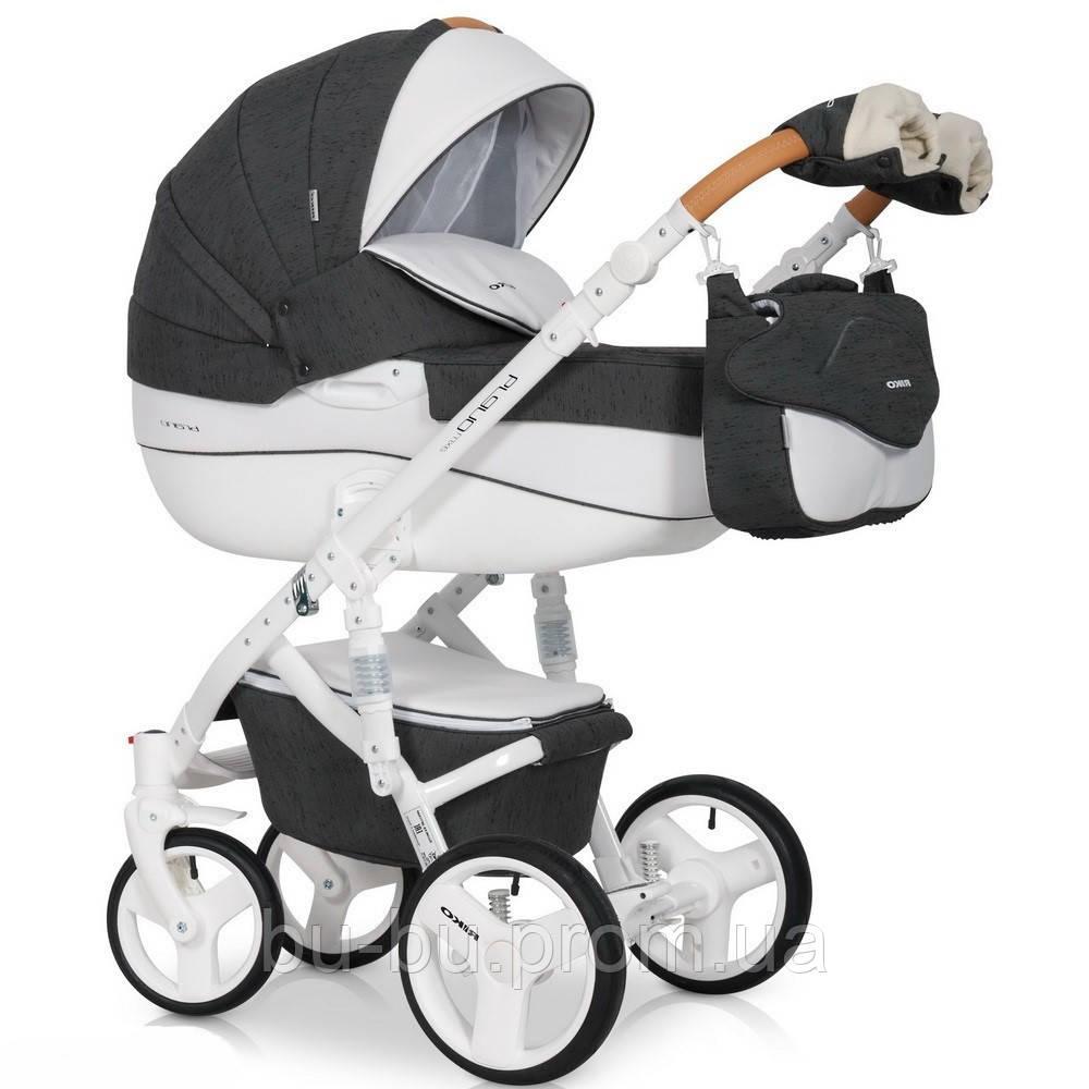 Дитяча універсальна коляска 2 в 1 Riko Brano Luxe 06 Antracite