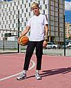 Спортивные штаны с тонкой полосой укороченные без манжета унисекс черные модель Кейдж размер S, M, L, XL, фото 3