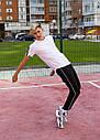 Спортивные штаны с тонкой полосой укороченные без манжета унисекс черные модель Кейдж размер S, M, L, XL, фото 4