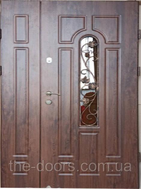 Двери полуторные REDFORT Арка со стеклопакетомоптима+