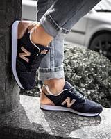 Женские кроссовки New Balance 520 | Черные с золотом
