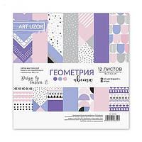 Набор бумаги для скрапбукинга «Геометрия цвета», 12 листов, 15,5 х 15,5 см