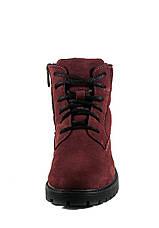 Ботинки зимние подросток MIDA 34122-430Ш бордовые (36), фото 3